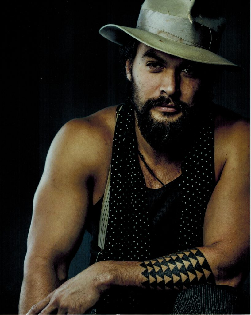Celebrity Fan Fest guest Jason Momoa wearing tan hat