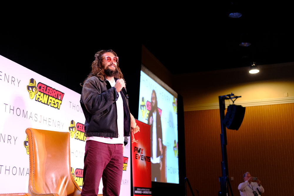 Jason Momoa panel at Celebrity Fan Fest 2018