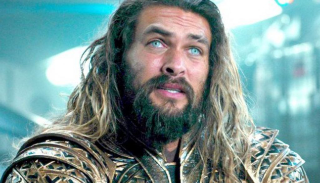 Jason Momoa as Aquaman in the Justice League movie