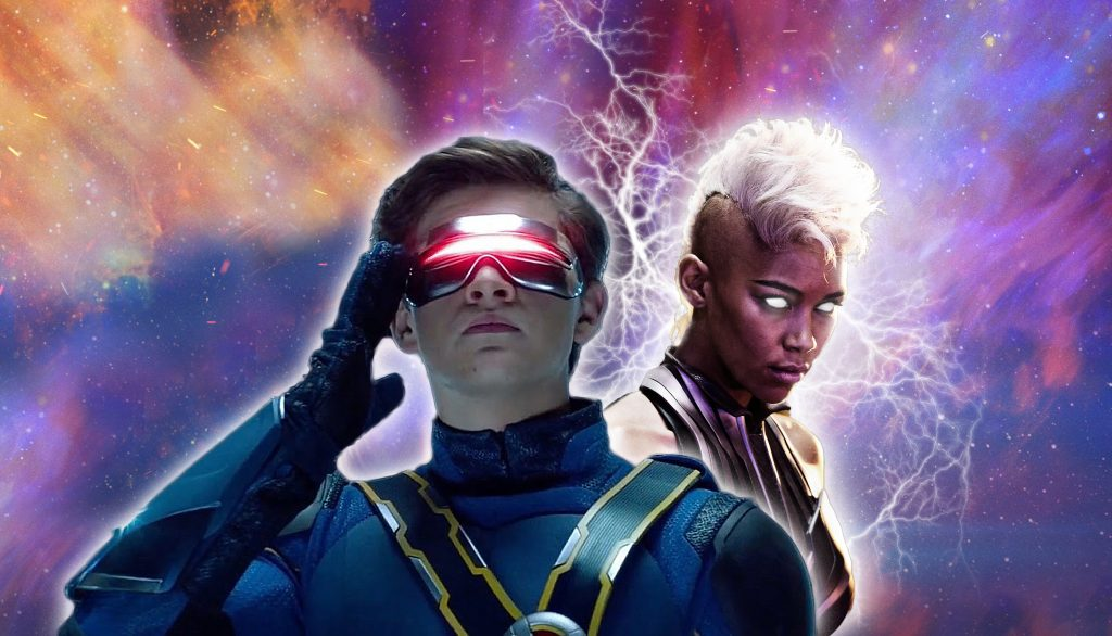 Celebrity Fan Fest guests Tye Sheridan as Cyclops and Alexandra Shipp as Storm from X-Men: Dark Phoenix