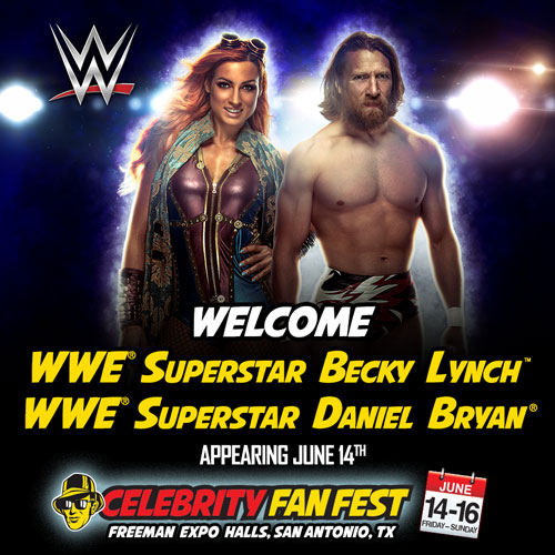 Celebrity Fan Fest WWE Superstars, Becky Lynch & Daniel Bryan at San Antonio comic con