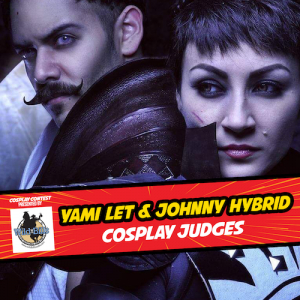 Cosplay judges Yami Let & Johnny Hybrid at Celebrity Fan Fest, San Antonio's premier comic con