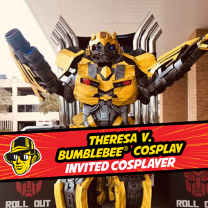 Cosplayer Theresa V as Bumblebee at Celebrity Fan Fest, San Antonio's premier comic con