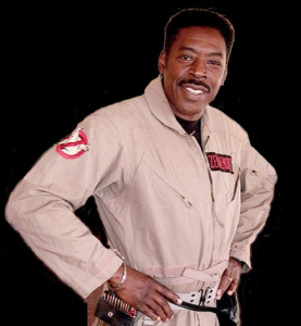 Ernie Hudson headshot in Ghostbuster character