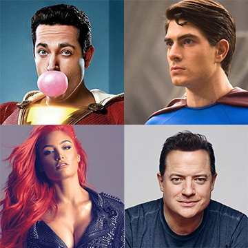 Zachary Levi, Brandon Routh, Eva Marie and Brendan Fraser
